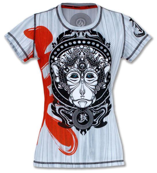 INKnBURN Women's Monkey Tech Shirt Front