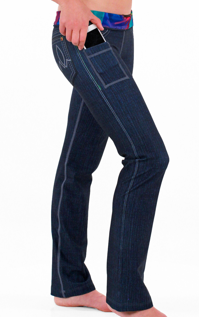 INKnBURN Women's Rose Performance Denim Pants Right Side Pocket