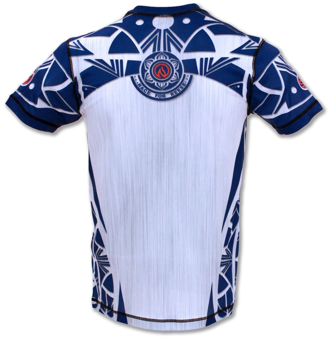 INKnBURN Men's Blue Healing Mandala Tech Shirt Back