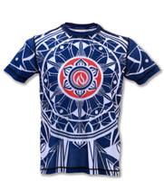 INKnBURN Boy's Blue Healing Mandala Tech Shirt Front