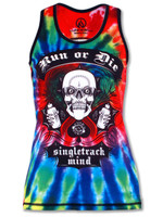 INKnBURN Women's Run or Tie Die Singlet Front
