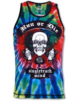 INKnBURN Men's Run or Tie Die Singlet Front