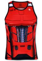 INKnBURN Men's Red Robot Singlet Front