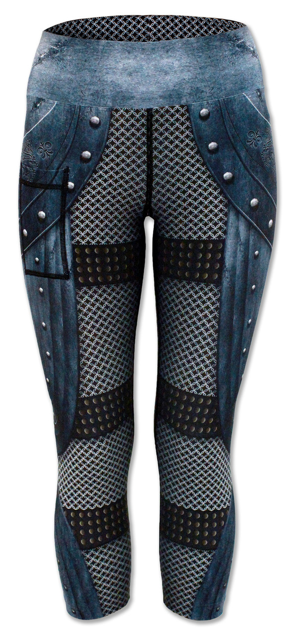 INKnBURN Women's Medieval Capris Back with Waistband Up.