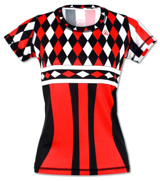 INKnBURN Women's Harlequin Tech Shirt Front