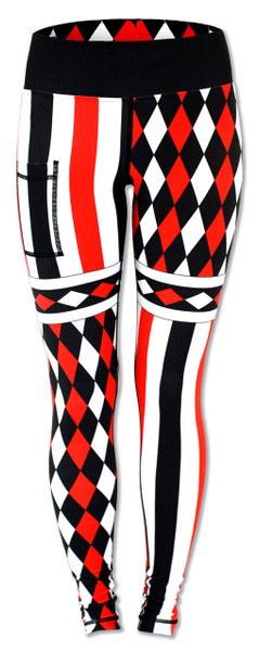 INKnBURN Harlequin Tights Front Waistband Up