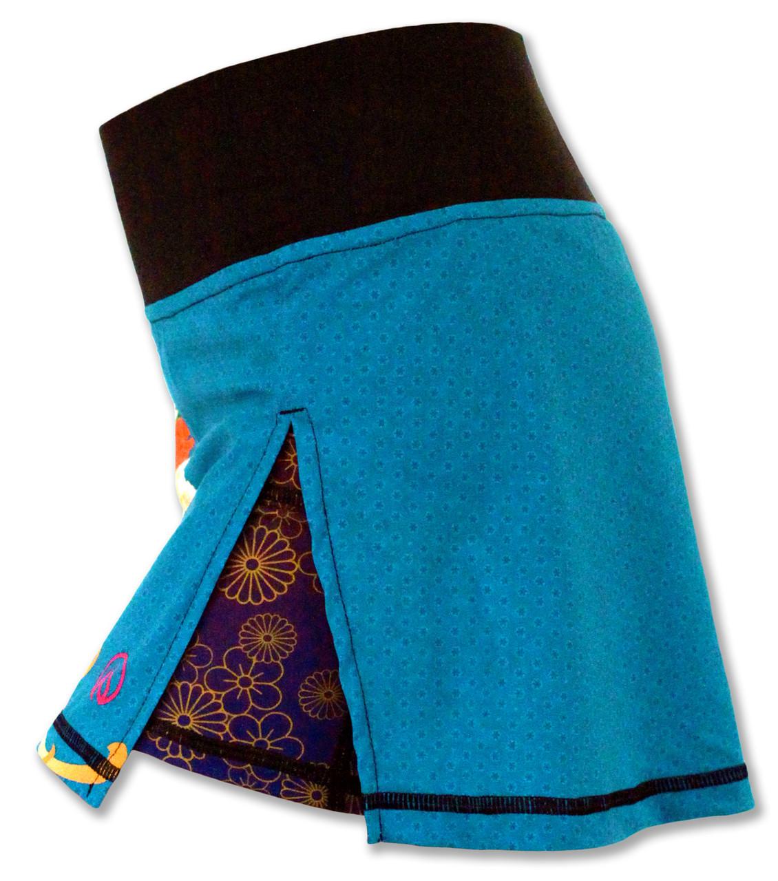 INKnBURN Women's Kimono Sport Skirt Left Side Waistband Up