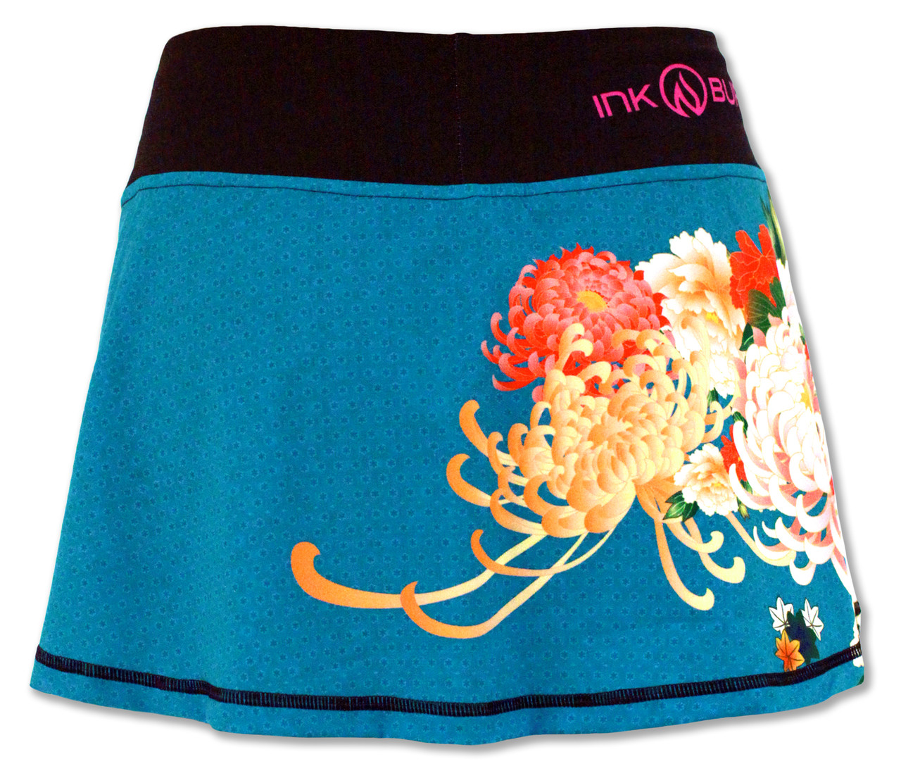INKnBURN Women's Kimono Sport Skirt Back Waistband Up