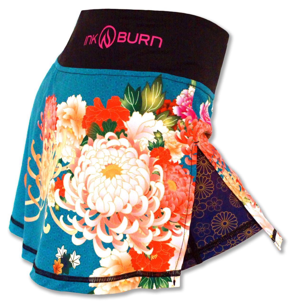 INKnBURN Women's Kimono Sport Skirt Right Side Waistband Up