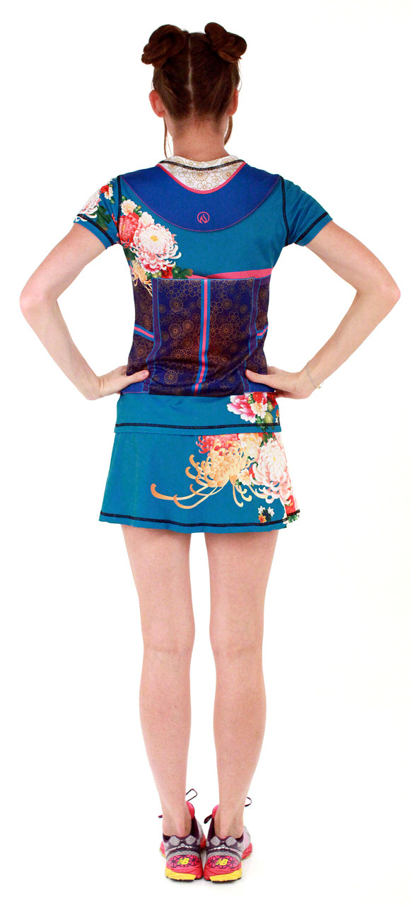 INKnBURN Women's Kimono Tech Shirt and Sport Skirt