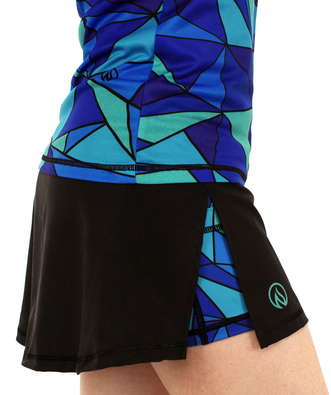INKnBURN Women's ISO Sport Skirt Right Side with ISO Tech Shirt