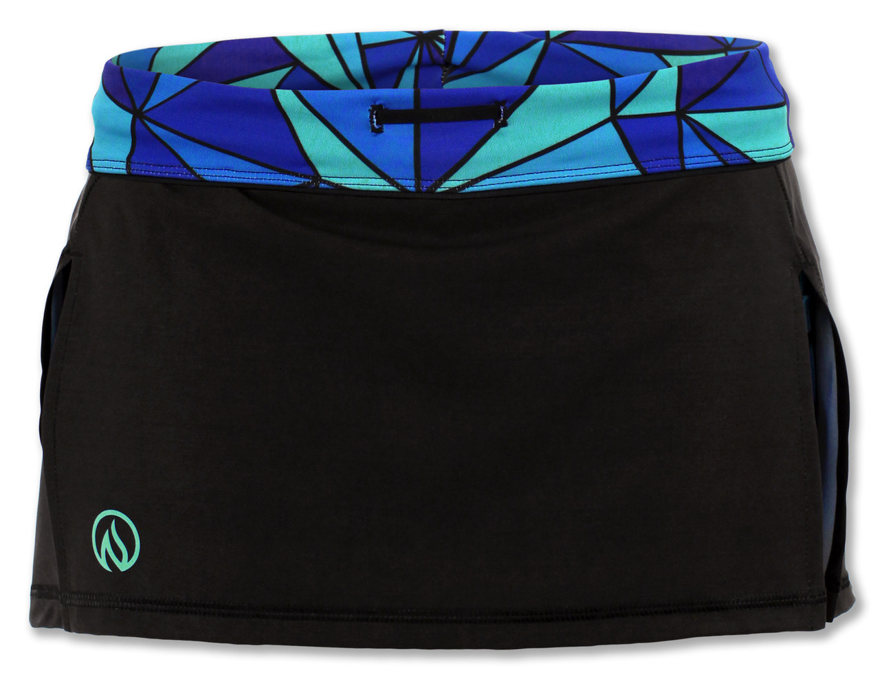 INKnBURN Women's ISO Sport Skirt Front Waistband Folded Down