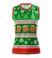 INKnBURN Women's Fruitcake Holiday Sweater Vest Front