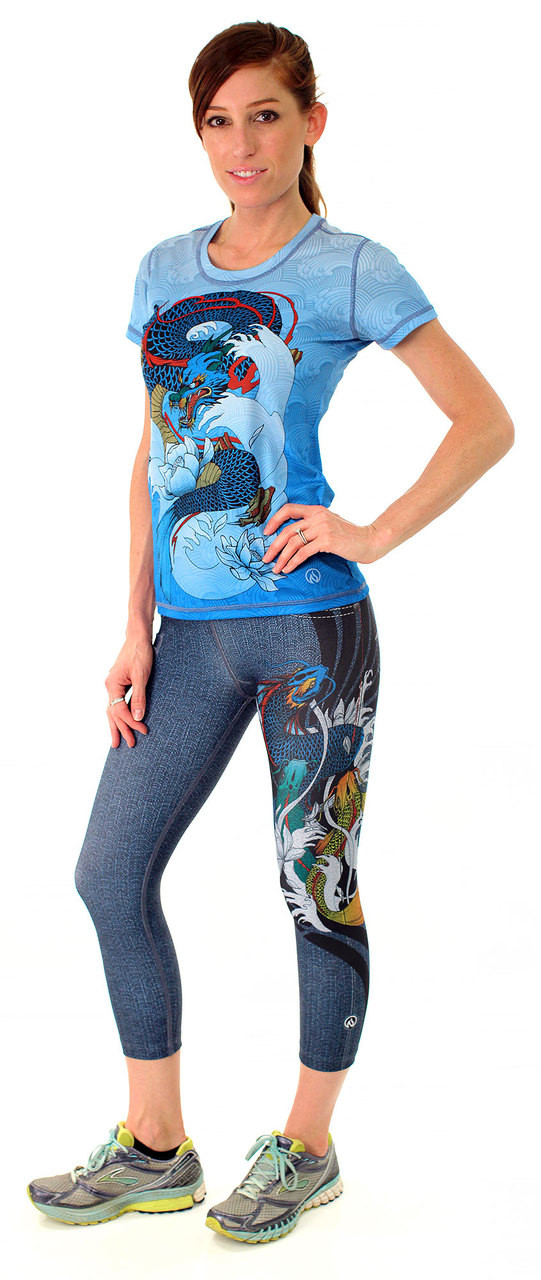 INKnBURN Women's Dragon's Gate Capris and Tech Shirt