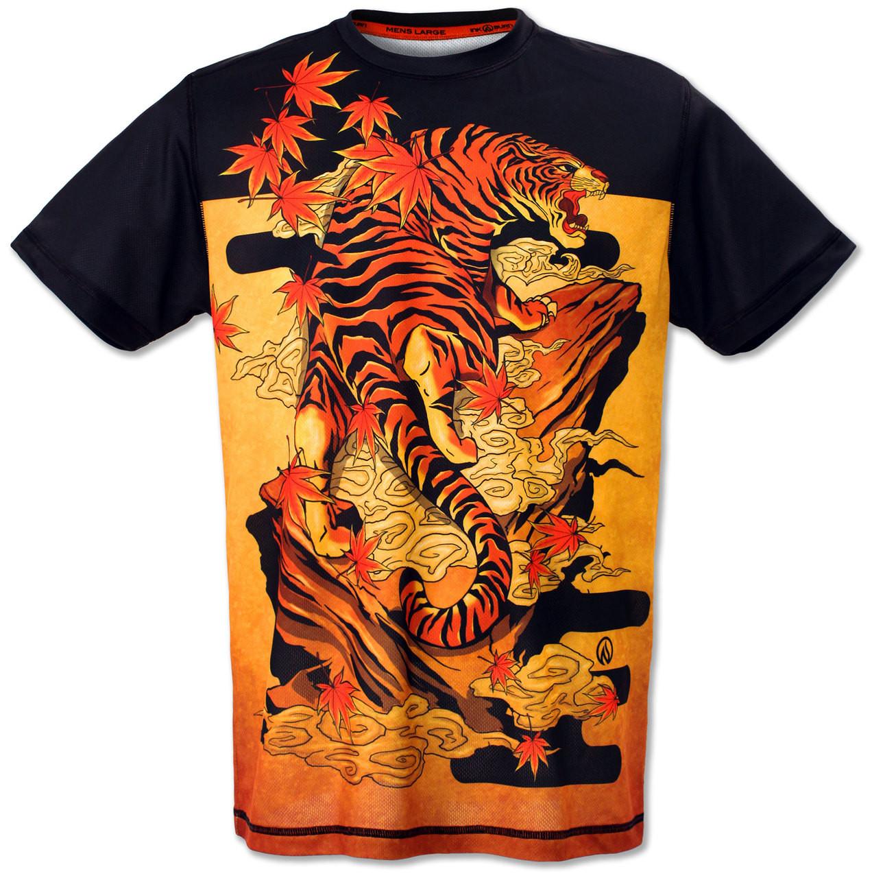 INKnBURN Men's Tiger Tech Shirt Front
