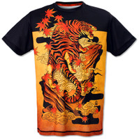 INKnBURN Men's Tiger Tech Shirt Front