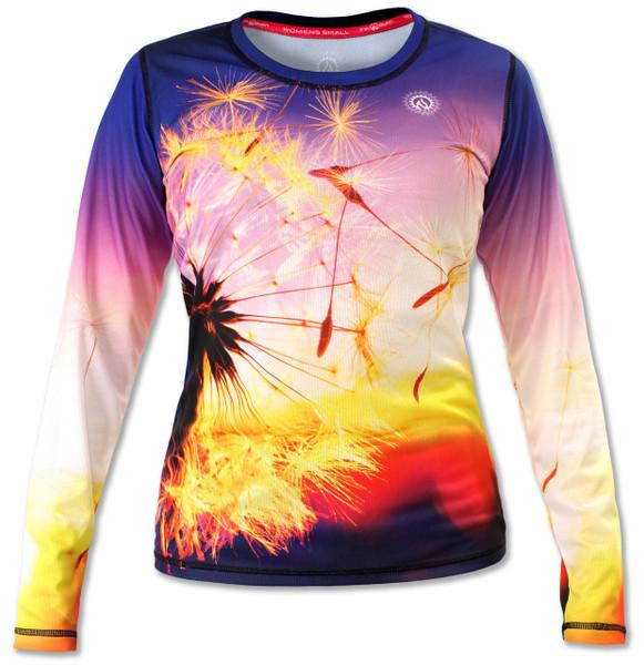 INKnBURN Women's Wish Long Sleeve Tech Shirt Front