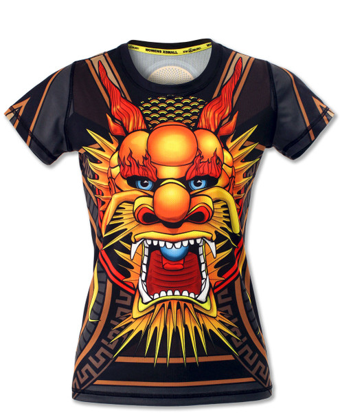 INKnBURN Women's Club INB Fire Dragon Tech Shirt Front