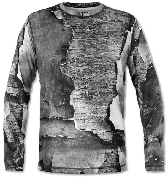 INKnBURN Men's Peeling Paint Long Sleeve Tech Shirt Front