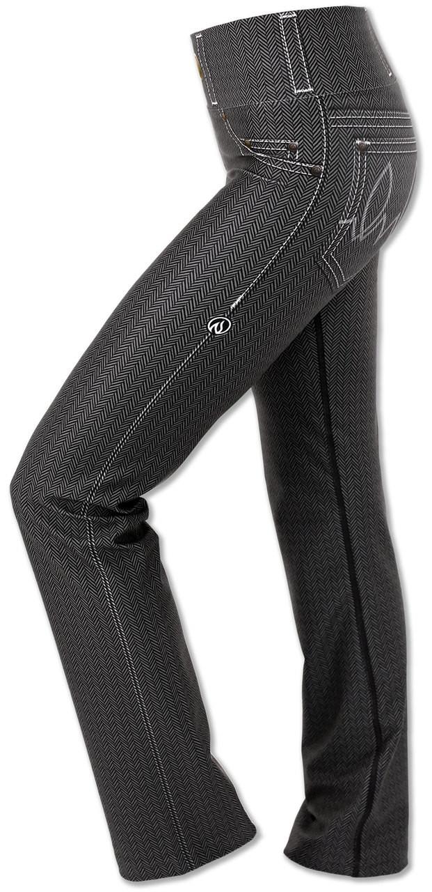 Women's Herringbone Performance Denim Pants Left Side