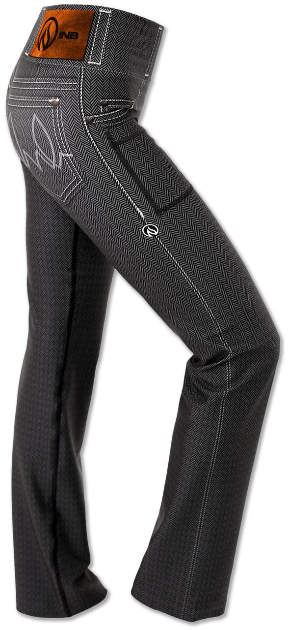Women's Herringbone Performance Denim Pants Right Side