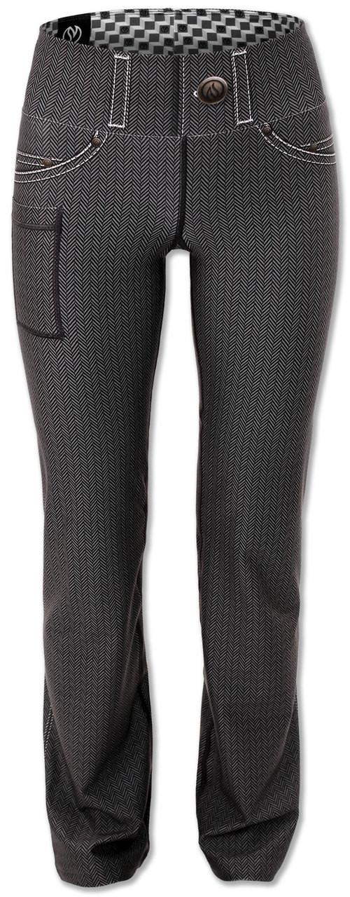 Women's Herringbone Performance Denim Pants Front