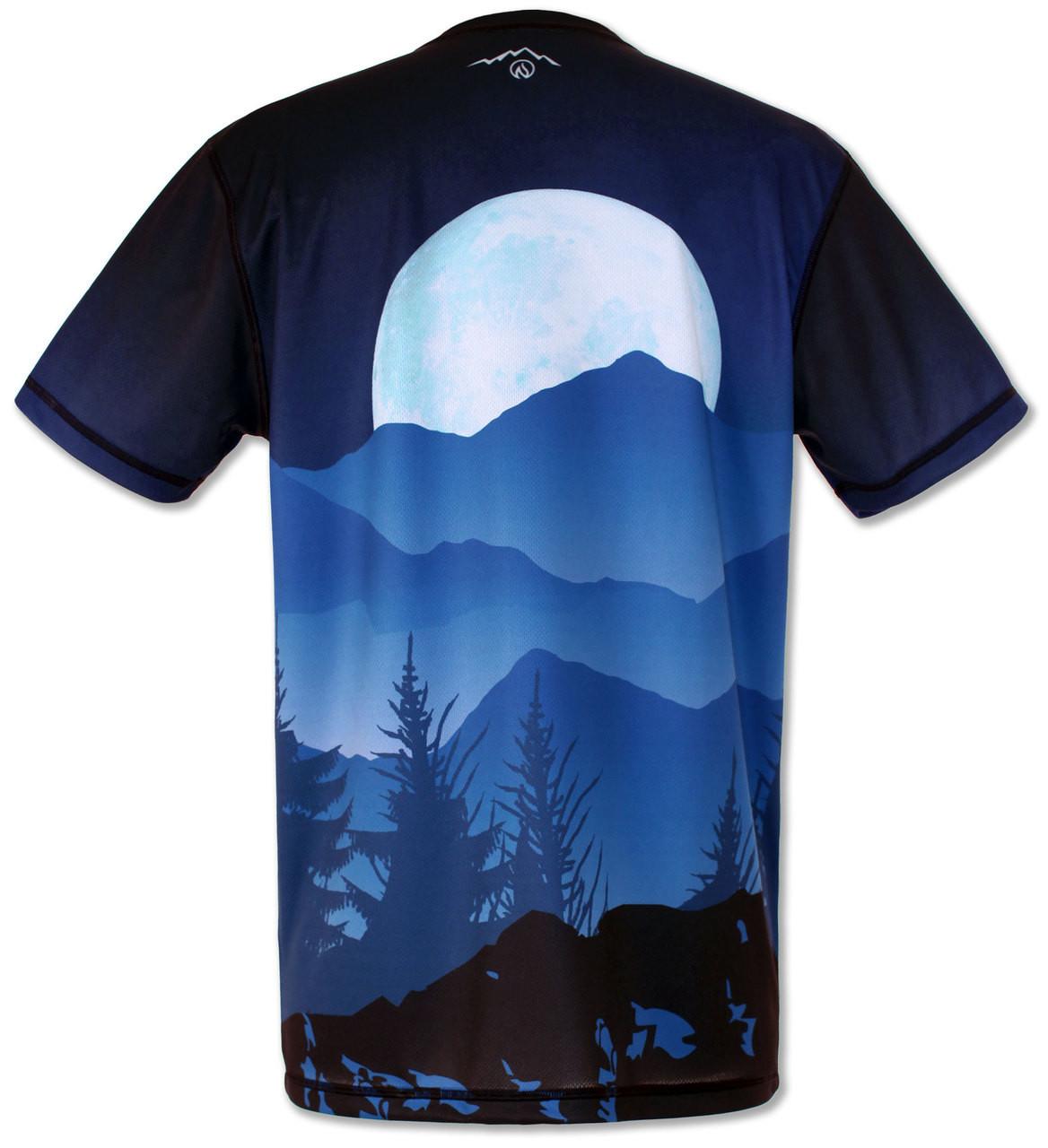 Men's Mountain Goat Tee Tech Shirt Back