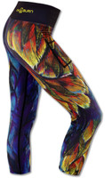 INKnBURN Painted Feather Capris Right Side