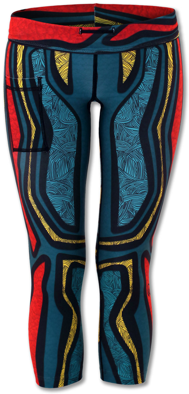 INKnBURN Turtle Capris Front with Waistband Folded Down