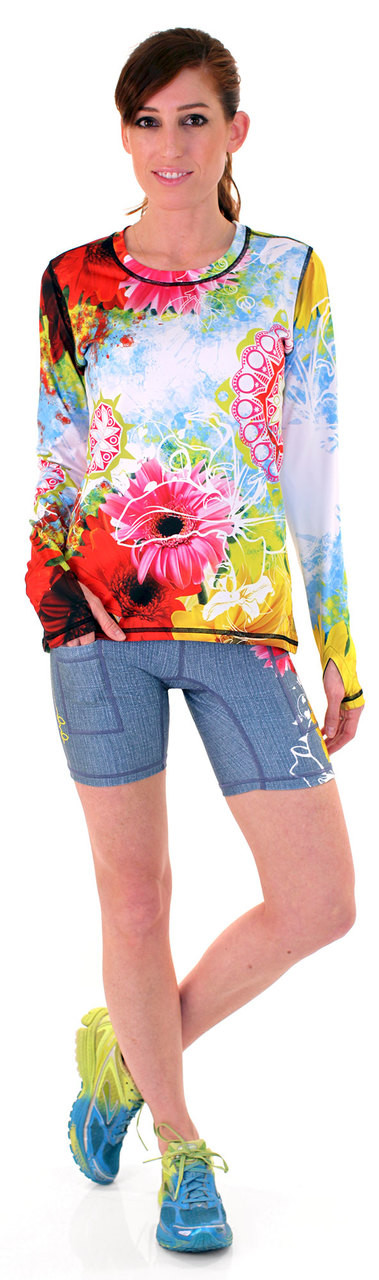 "INKnBURN Women's Wildflower 6"" Shorts and Wildflower Pullover"