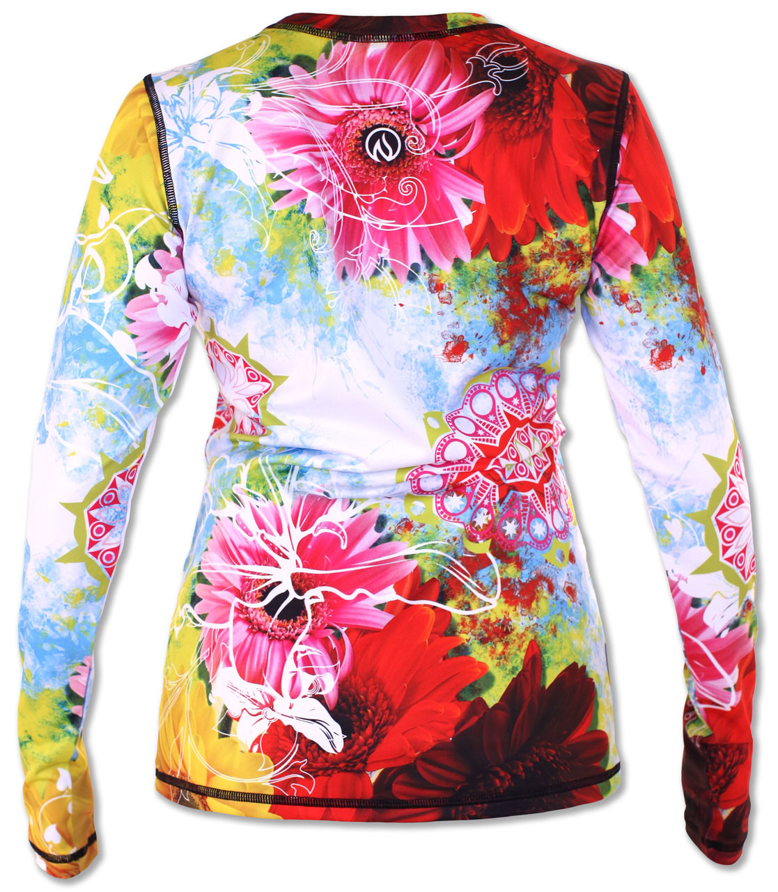 INKnBURN Women's Wildflower Pullover with Thumbholes Back