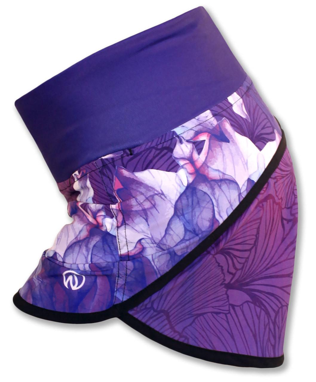 INKnBURN Women's Purple Azalea Shorts Side