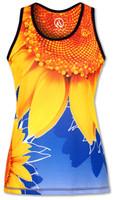 INKnBURN Women's TBT Sunflower Singlet Front