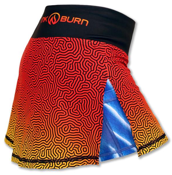 INKnBURN Coral Sport Skirt Side