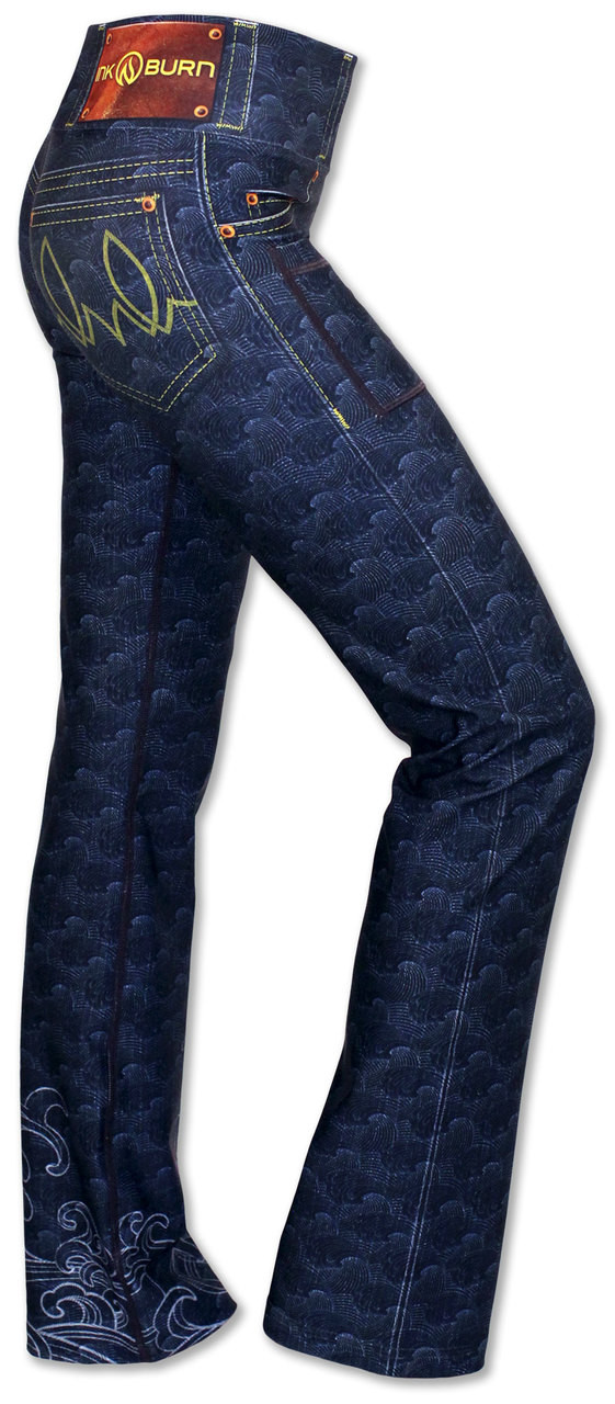 INKnBURN Women's Koi Performance Denim Pants