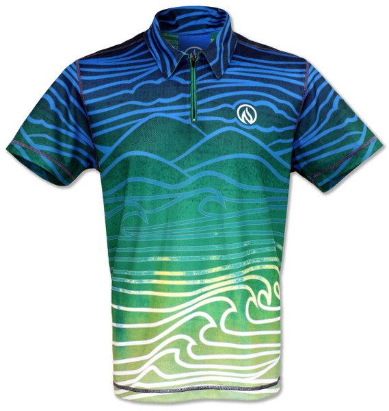 INKnBURN Men's Polo Tech Shirt Front