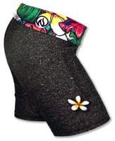 "INKnBURN Women's Black Sand 6"" Shorts"
