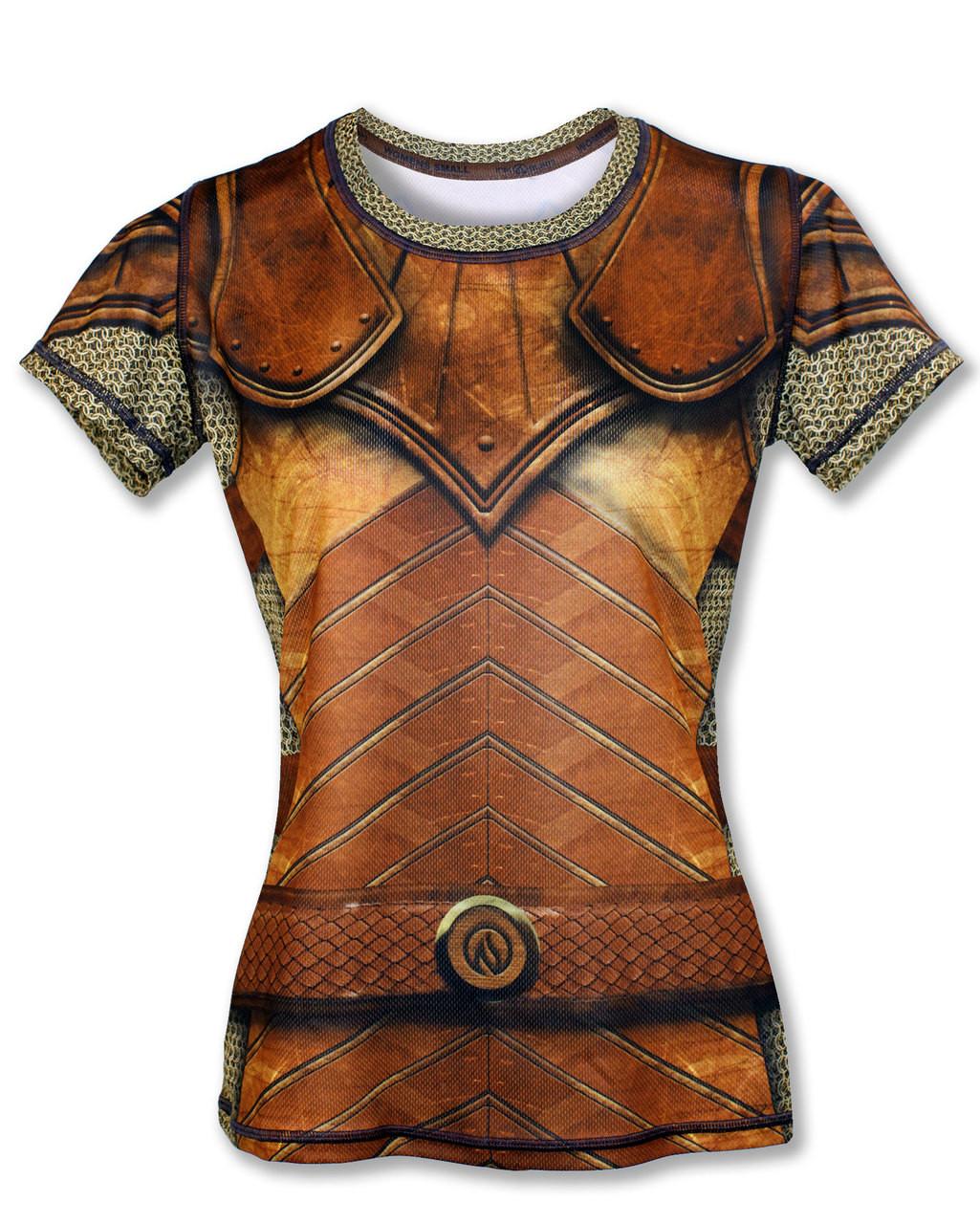 """INKnBURN Women's """"GOT Armor?"""" Tech Shirt Front"""