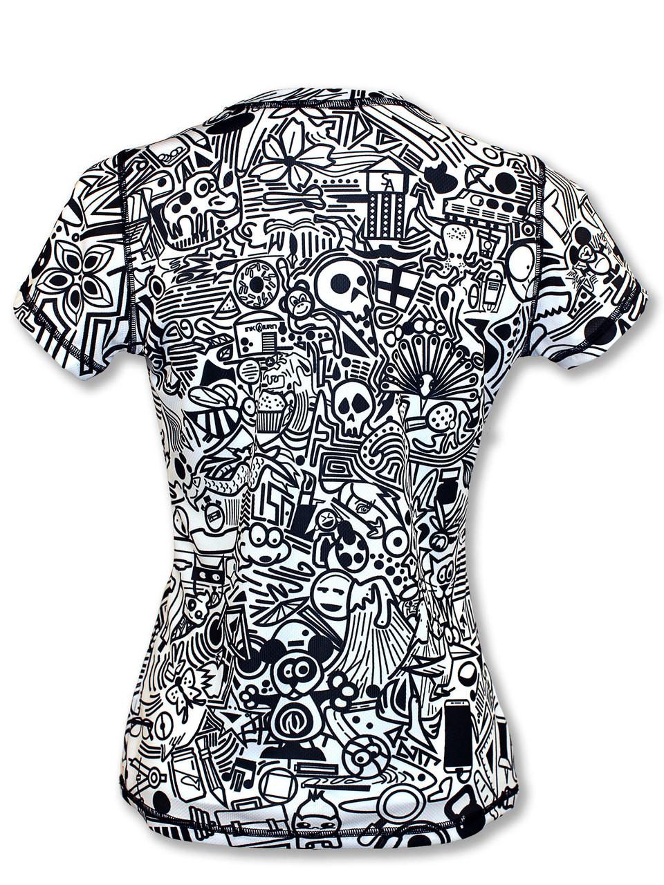 INKnBURN Women's Hidden Meanings Tech Shirt Back