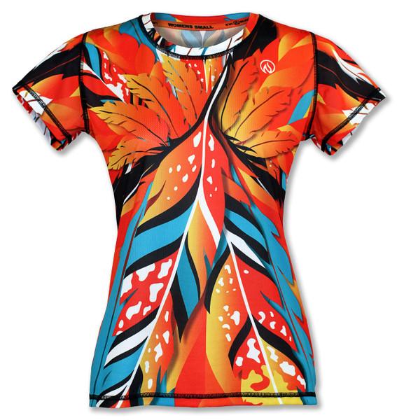 INKnBURN Women's Feather Tech Shirt Front