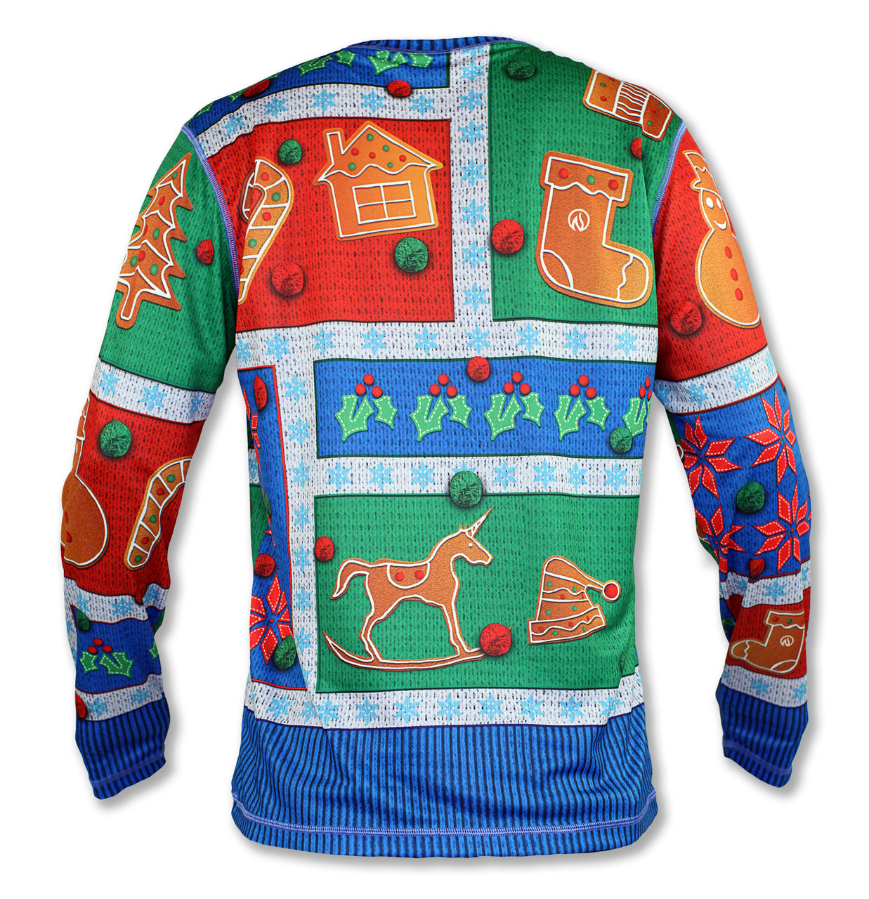 INKnBURN Men's 2017 Holiday Sweater Long Sleeve Tech Shirt Back