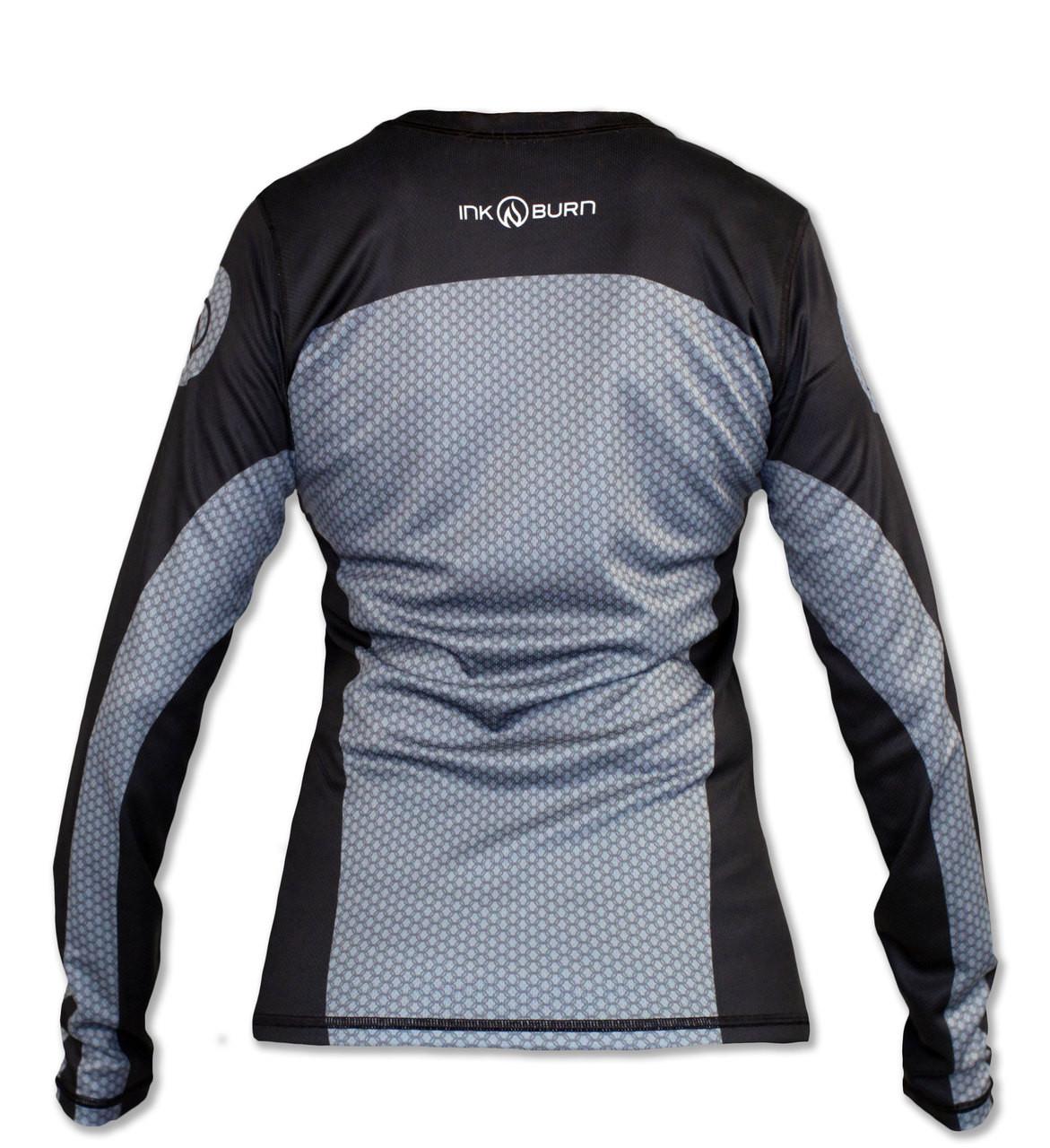 INKnBURN Women's Hachiko Long Sleeve Tech Shirt Back