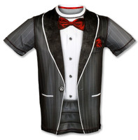 INKnBURN Men's Tux Tech Shirt Front