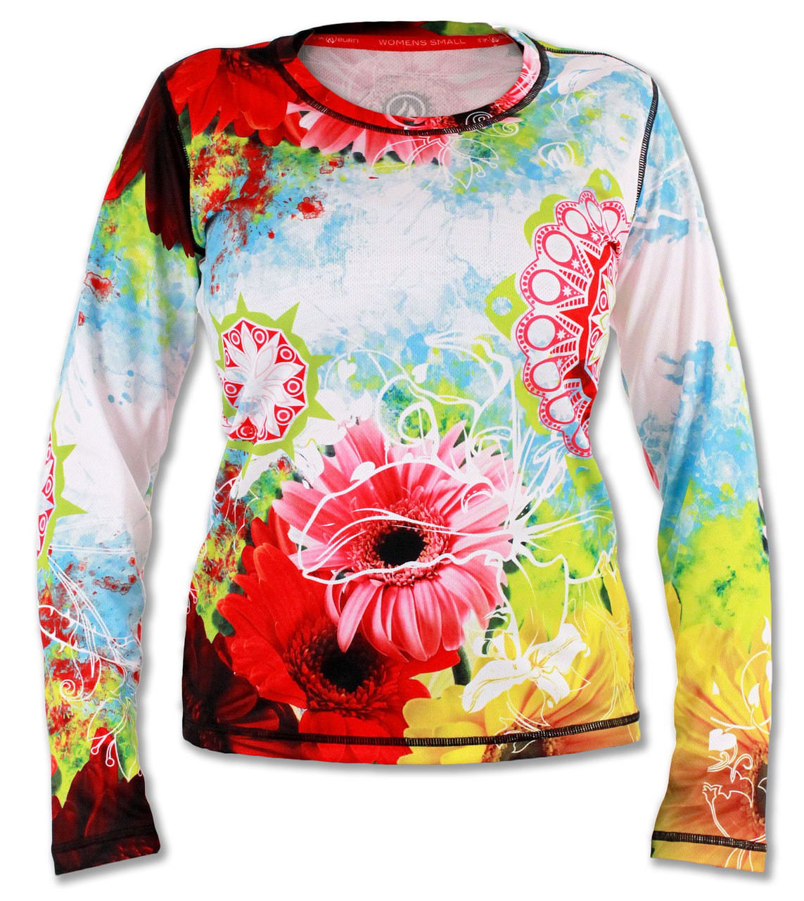 Women's Wildflower Long Sleeve Tech Shirt Front