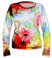 Women's Wildflower Long Sleeve Tech Shirt Front