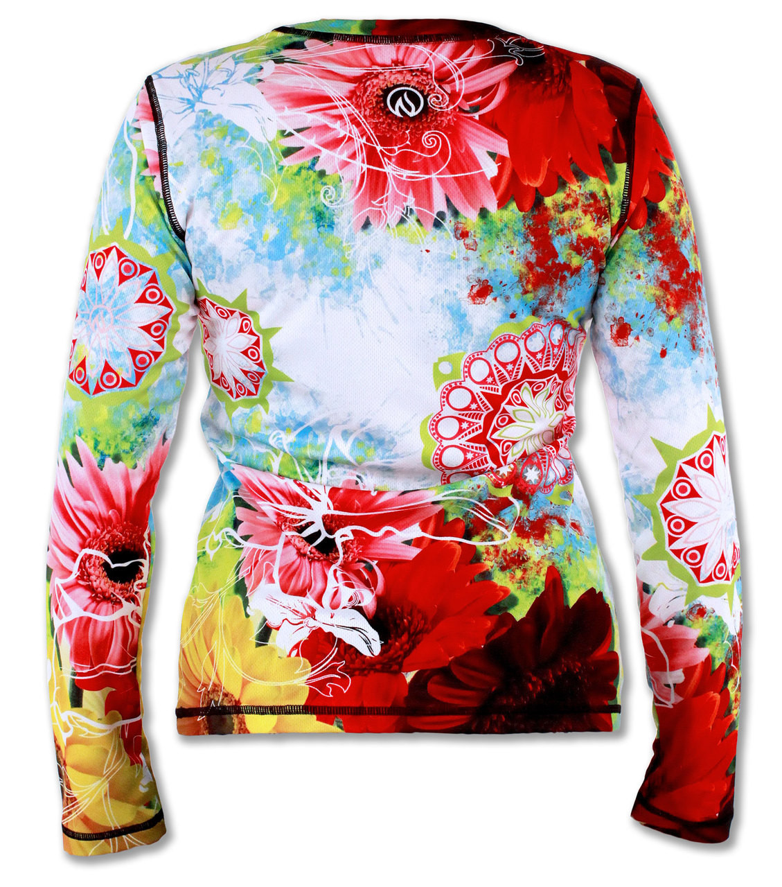 Women's Wildflower Long Sleeve Tech Shirt Back