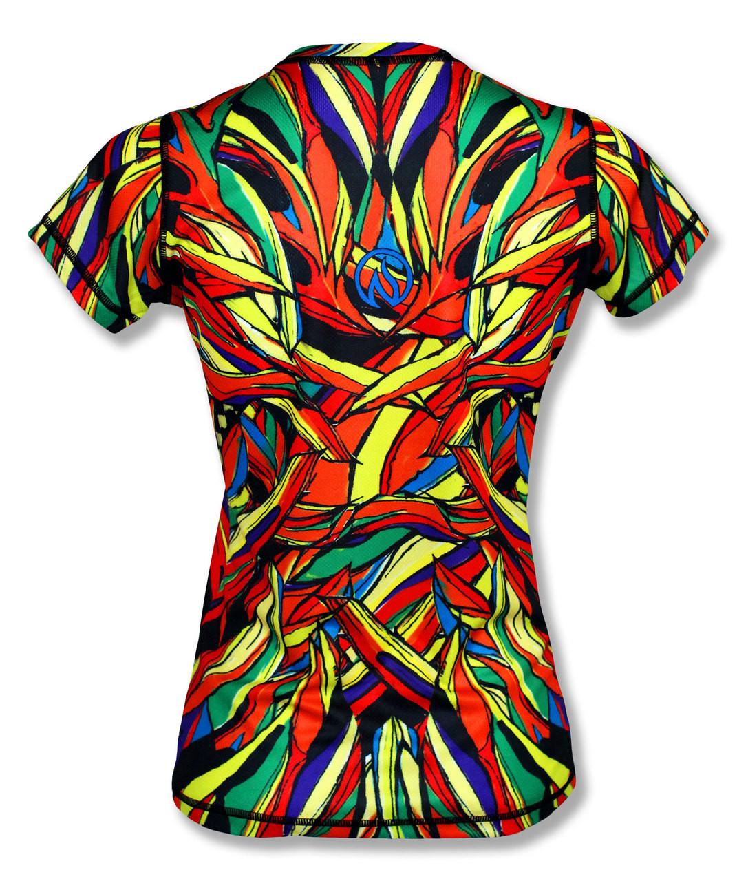 INKnBURN Women's Lion Tech Shirt Back