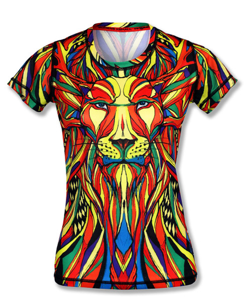 INKnBURN Women's Lion Tech Shirt Front