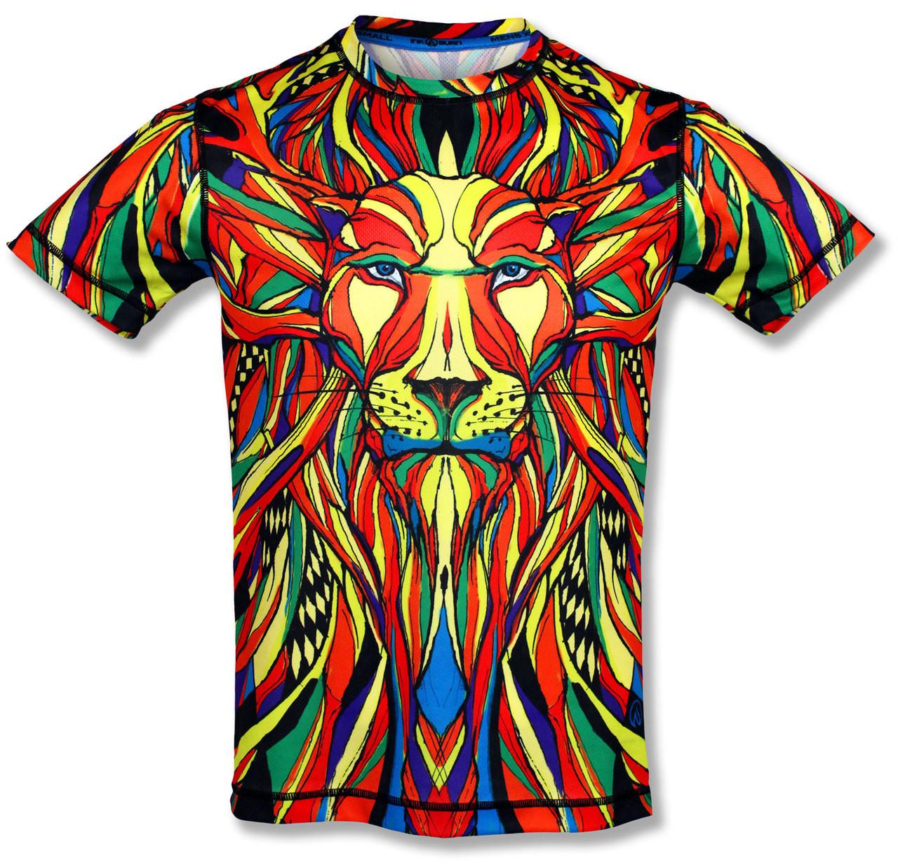 INKnBURN Men's Lion Tech Shirt Front