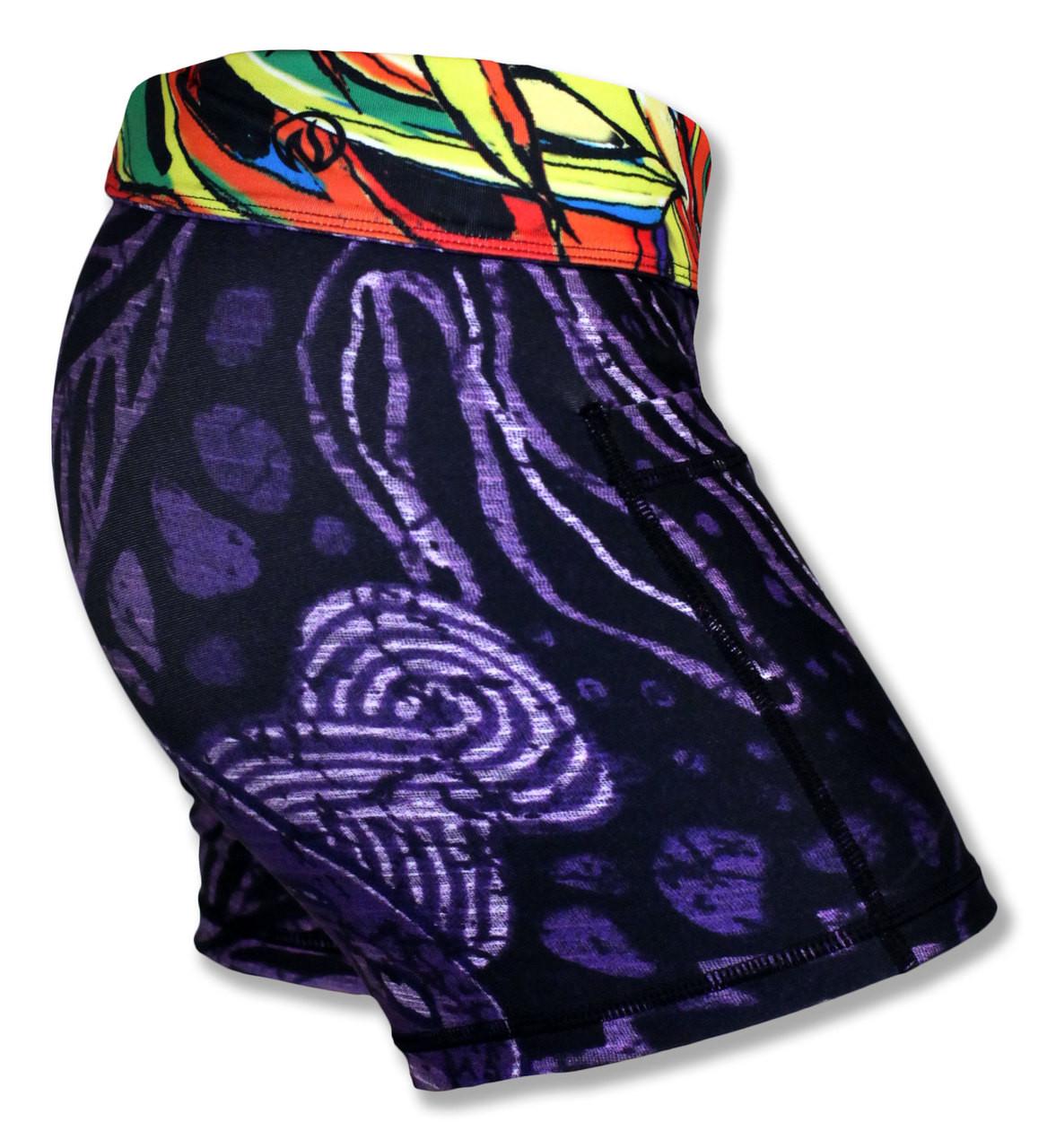 """INKnBURN Women's 4"""" Batik Shorts"""